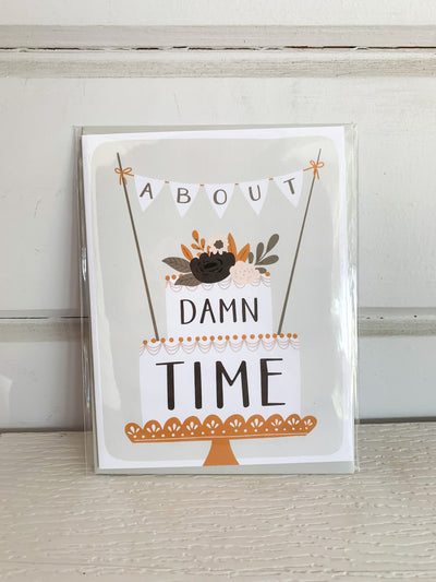 About Time Wedding Card