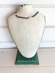 Faceted Choker with Pearls