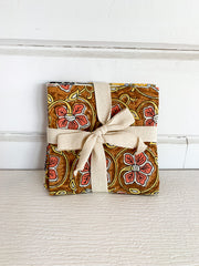 Floral Print Cloth Napkin Set