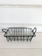 Wire + Glass Soap Dish
