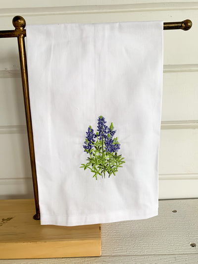 Bluebonnet Embroidered Kitchen Towel