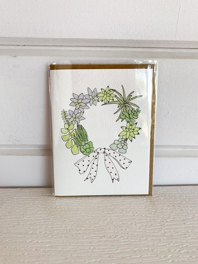 Succulent Wreath Anytime Card