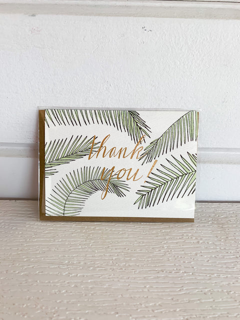 Palm Leaf Thank You Card