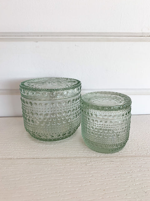 Decorative Glass Jars- Set of 2