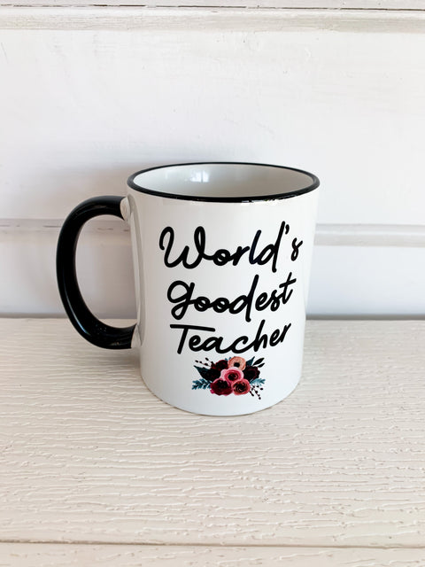 World's Goodest Teacher Mug