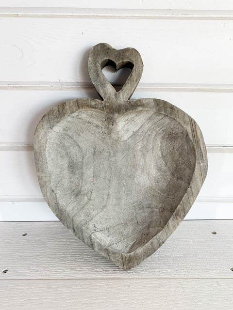 Wooden Heart Tray