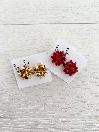 Gift Bow Earrings (2 Colors)