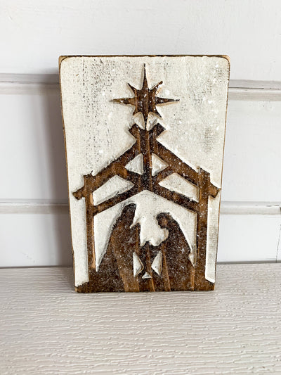 Nativity Box Sign