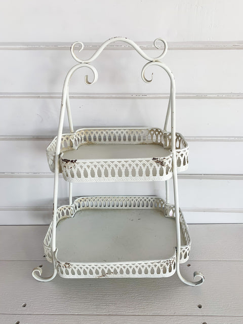 Two Tier Chantilly Tray