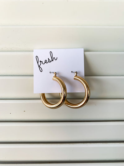 Tube Hoop Earrings (2 Colors)