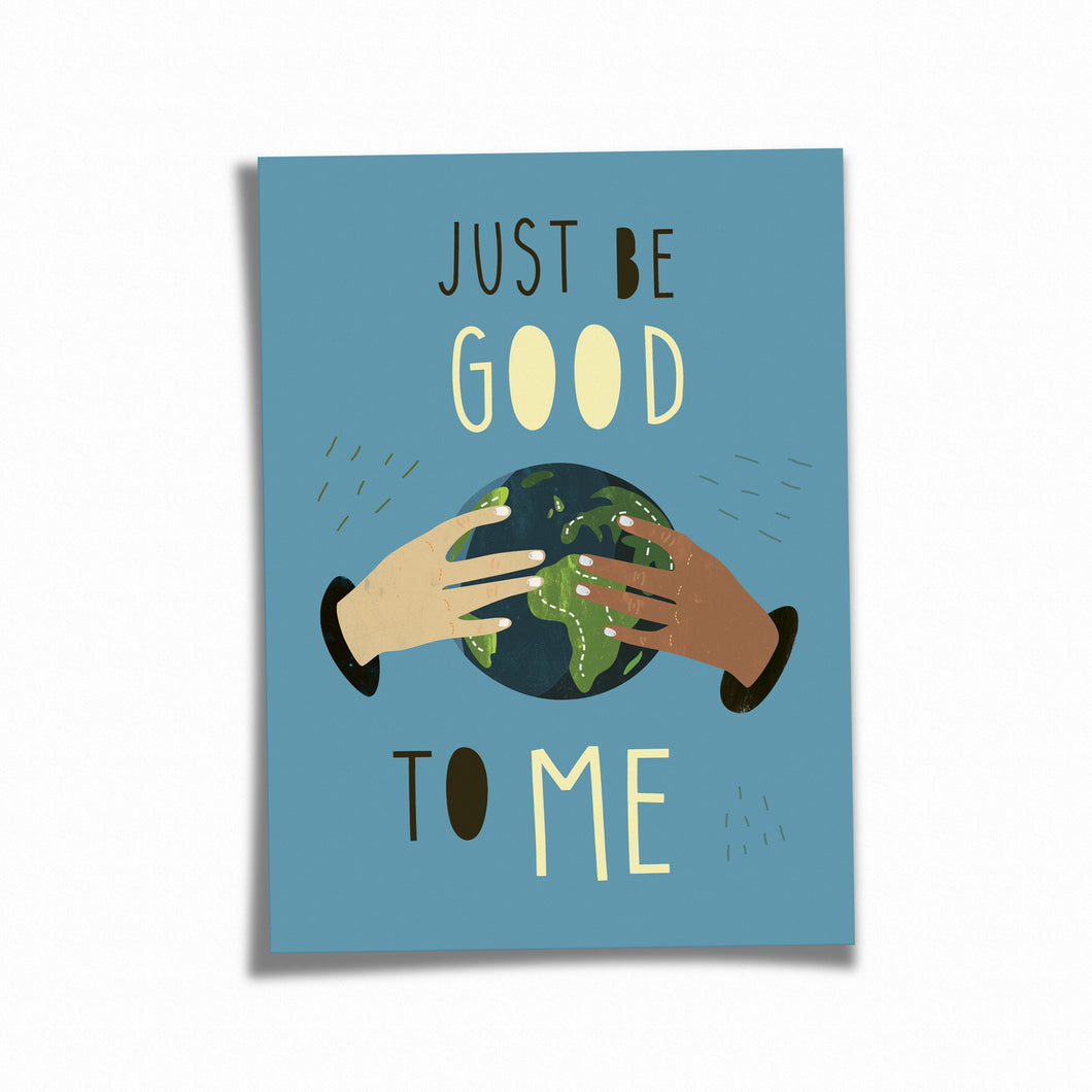 Postkarte »Just Be Good«