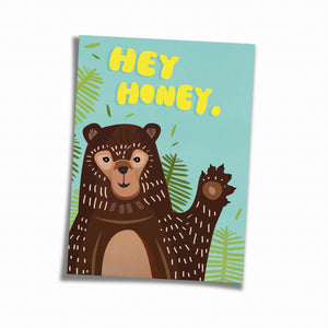 Postkarte »Hey Honey«