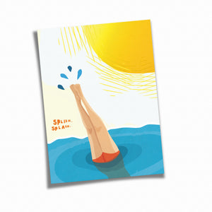Postkarte »Splash«