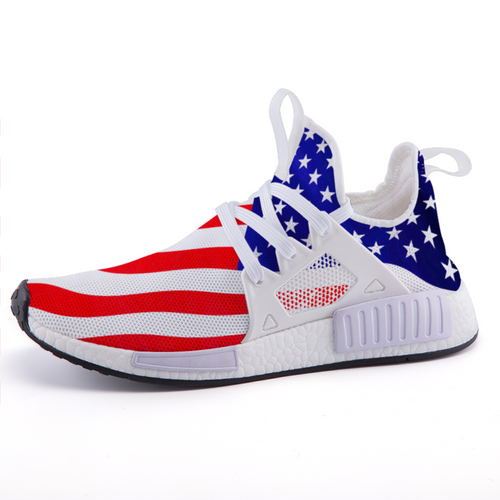 Patriotic Stars and Stripes American Flag Lightweight fashion sneakers casual sports shoes