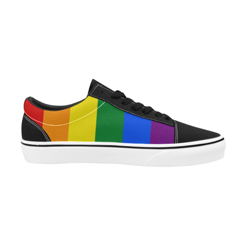 Pride LGBT Flag Women's Low Top Skateboarding Shoes