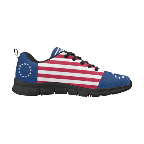 Men's Betsy Ross Flag Shoes Custom Freaky Shoes Sneakers Men's Breathable Running Shoes/Large