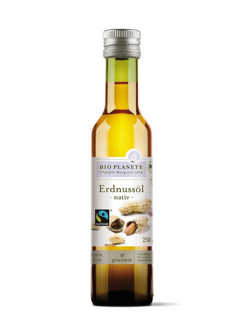 Bio Erdnussöl nativ & fair trade - 250ml - Supergsund