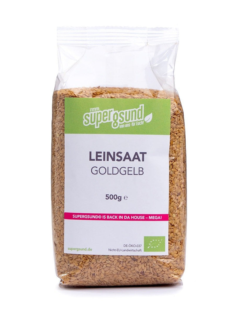 Bio Leinsaat goldgelb - 500g - BN37672.0 - Supergsund