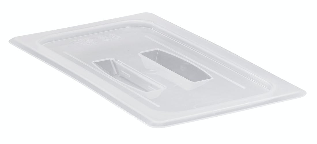 Food Pan Cover 1/2 W/Handle Translucent Cambro
