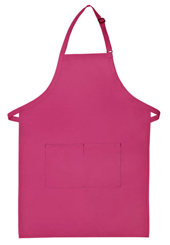 Apron Bib Butcher Hot Pink