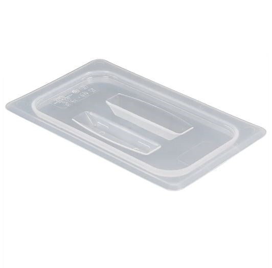 Food Pan Cover 1/4 w/Handle Translucent Cambro
