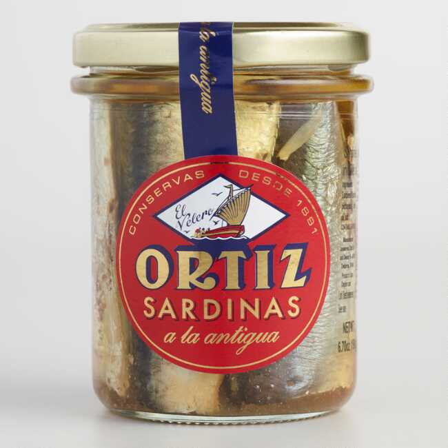 Ortiz Sardines in Olive Jar 4.9oz