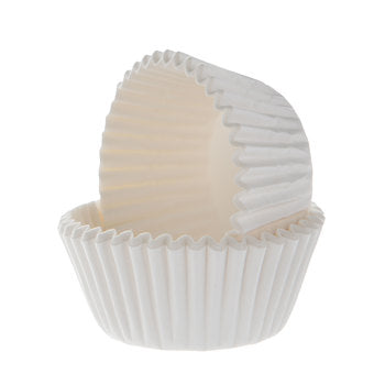 Bake Cup Mini White 1-1/4""