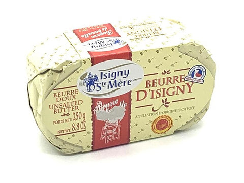 Butter Isigny Unsalted Oval 250g