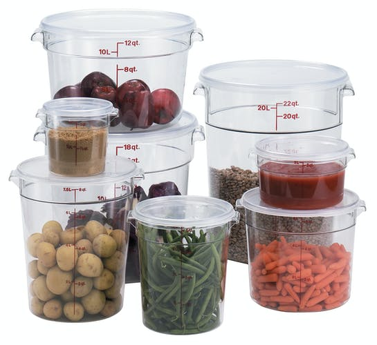 Food Round Clear Storage Cambro 1 qt