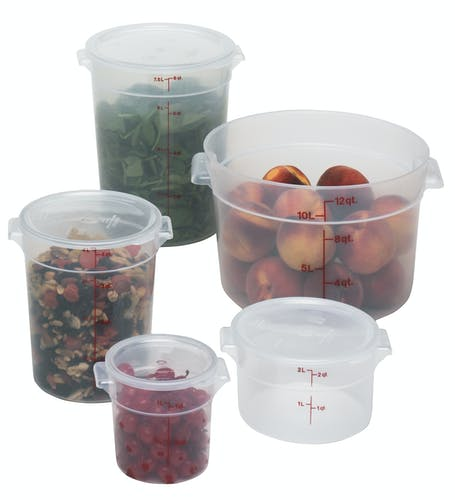 Food Round Translucent Storage Cambro 2 qt