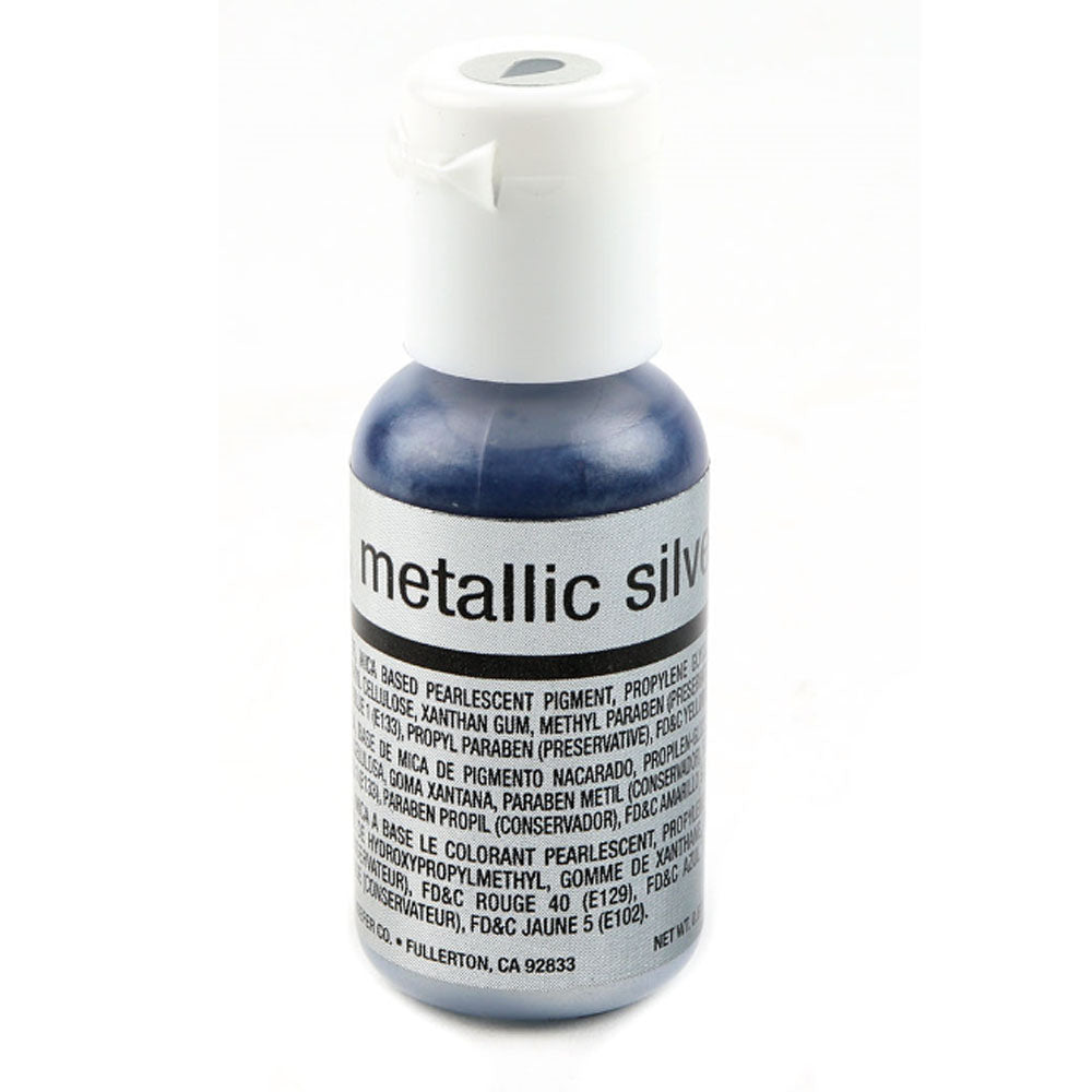 Color Chefmaster Airbrush Metallic Silver 0.64oz