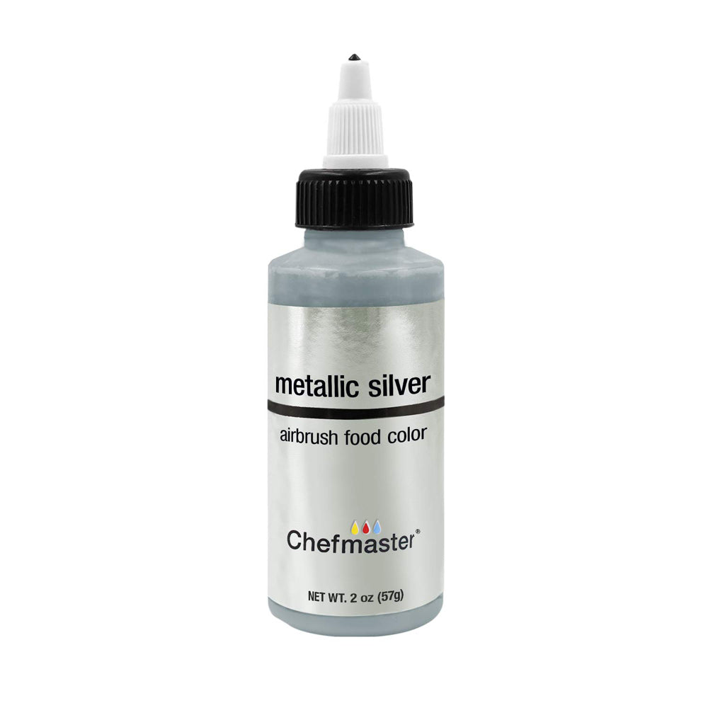 Color Chefmaster Airbrush Metallic Silver 2oz