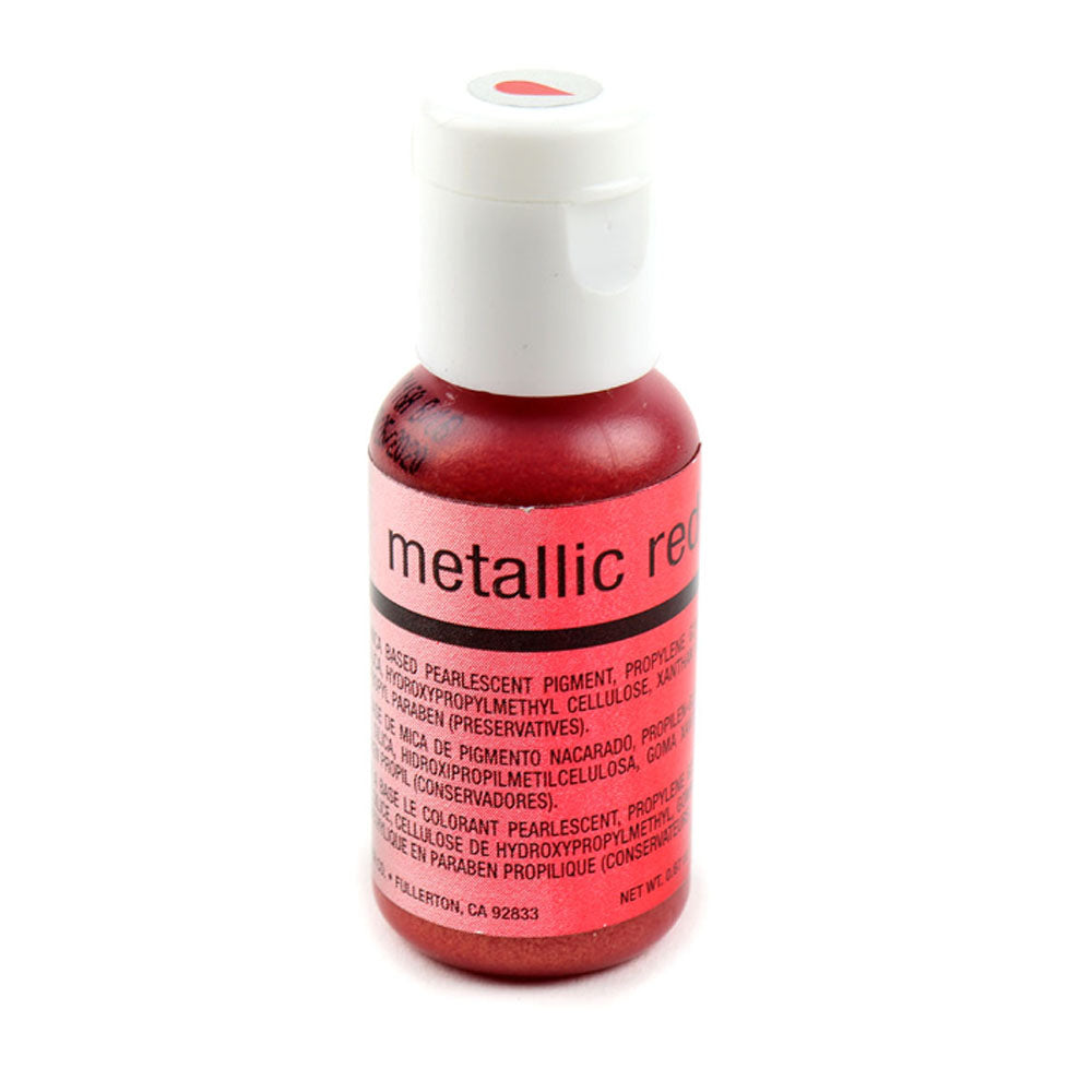Color Chefmaster Airbrush Metallic Red 0.64oz