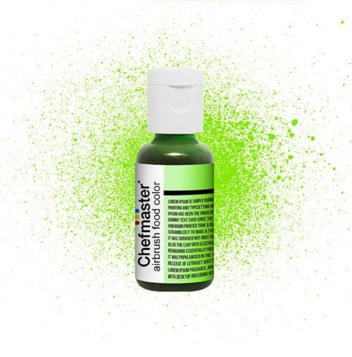 Color Chefmaster Airbrush Neon Green 0.64oz