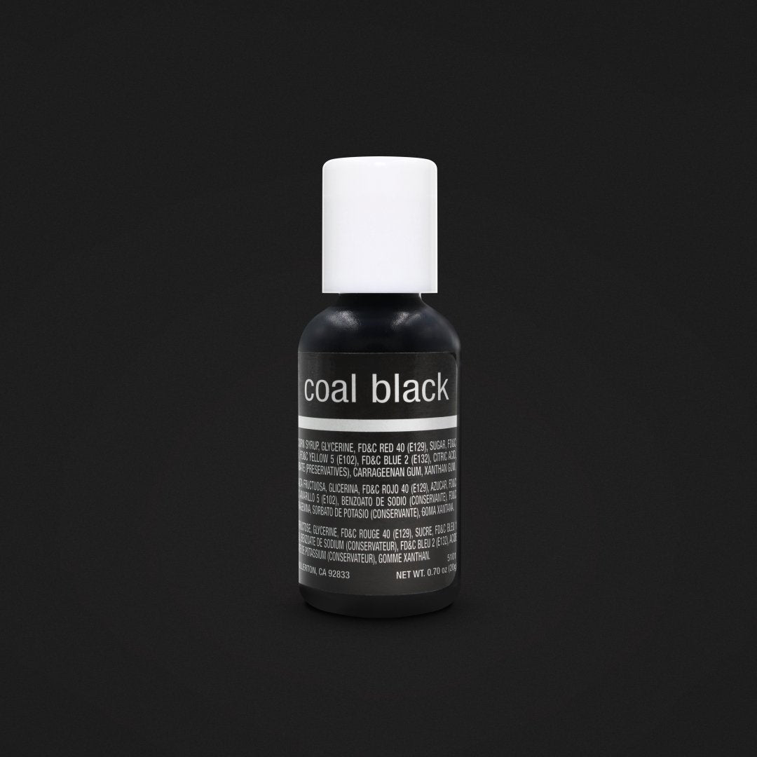 Color Chefmaster Gel Coal Black 0.70oz