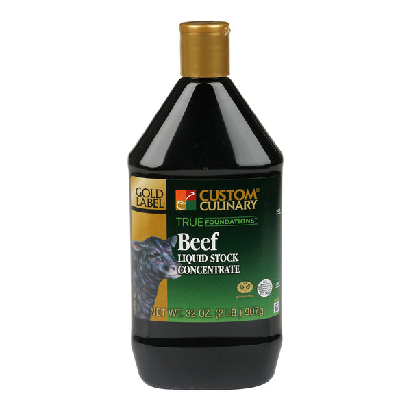 Base Custom Culinary True Foundations Beef Liquid Stock Concentrate 16oz