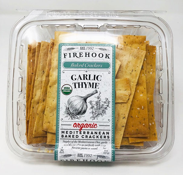 Cracker Firehook Garlic & Thyme 8oz