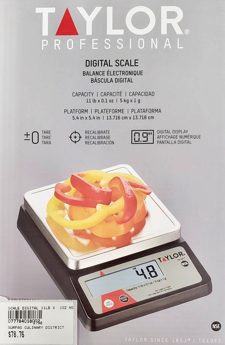 SCALE DIGITAL 11LB X .1OZ NSF