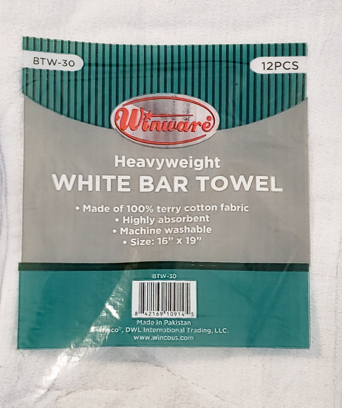 BAR TOWEL WHITE COTTON
