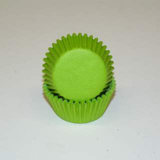 "Bake Cup LIME GREEN - 3/4"" W X 1 3/8"" B"