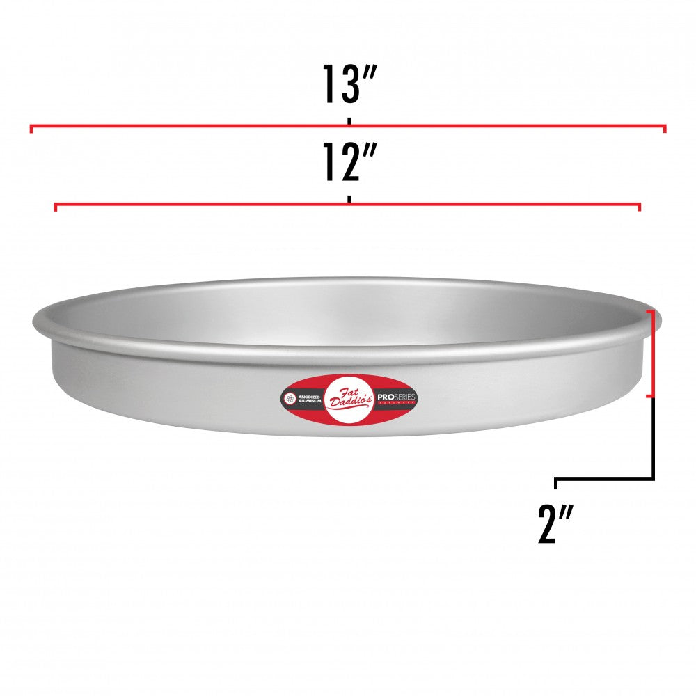 Cake Pan 12x2 Fixed Bottom