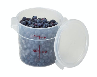 Food Round Translucent Storage Cambro 1 qt