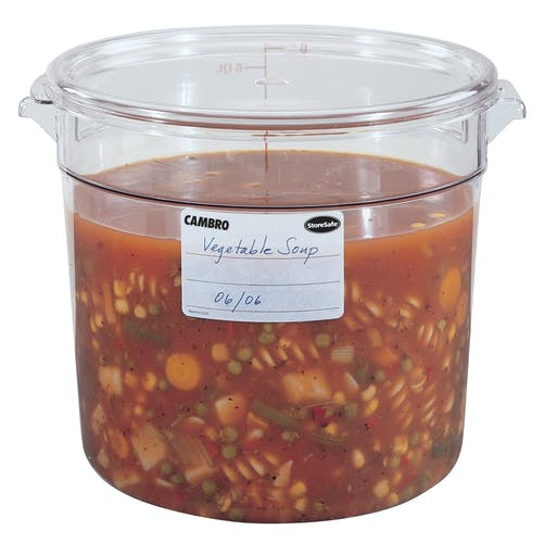 Food Round Lid Clear Cambro 12/18/22 qt