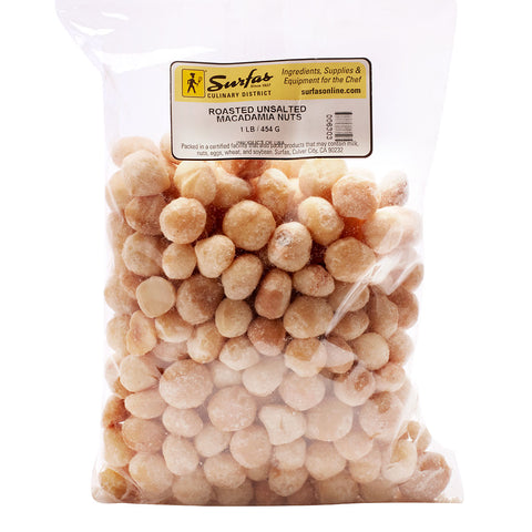 Nuts Macadamia Roasted No Salt 1lb