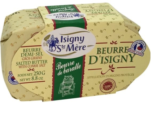 Butter Isigny Sea Salt Oval 250