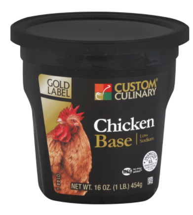 Base Custom Culinary Gold Low Sodium Chicken 1lbs