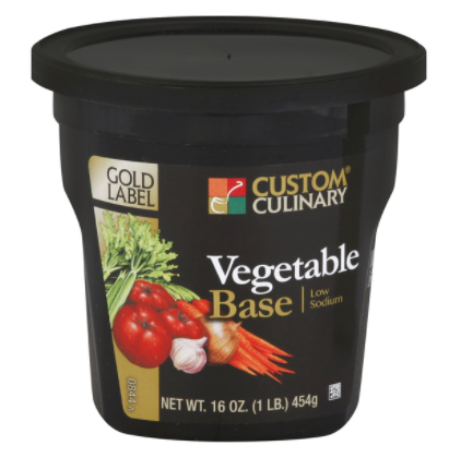 Base Custom Culinary Gold Low Sodium Vegetable 1lbs