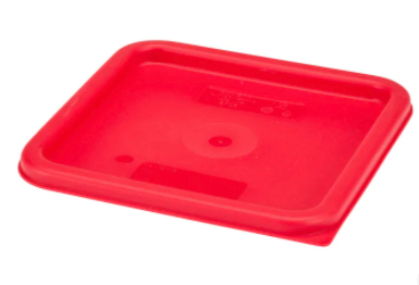 Food Sq Lid Red 6/8QT