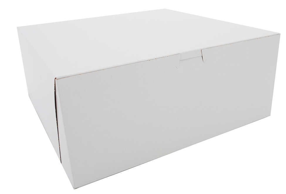 Box Bakery White 12x12x5