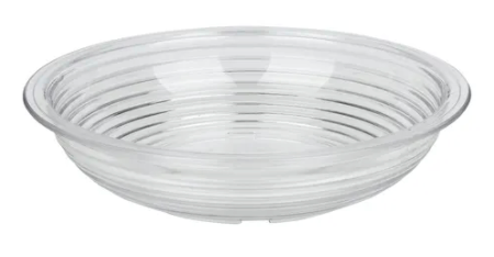 Bowl Plastic Ribbed Clear 6in